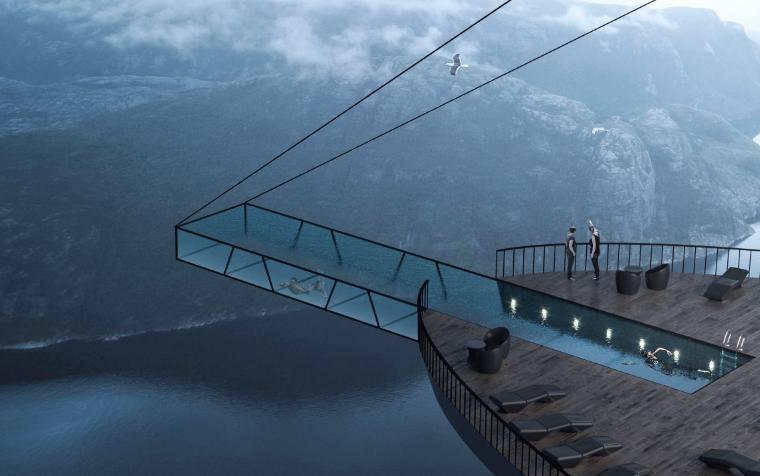 <b>这或许将是世界上最危险的酒店!挪威悬崖酒店设计效果图曝光</b>