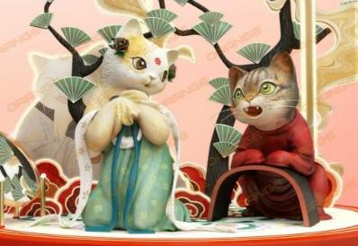 唐猫&国潮,富力广场X天朝第一画猫师瓜几拉,萌得