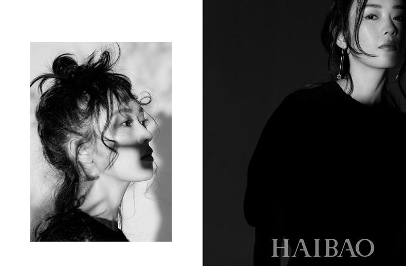 童瑶黑白系写真 优雅神秘尽显独特魅力