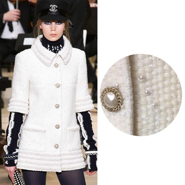 小香外套Tweed Jacket 镶嵌珍珠 图片来自品牌