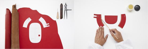 迷你Gate手袋的制作过程