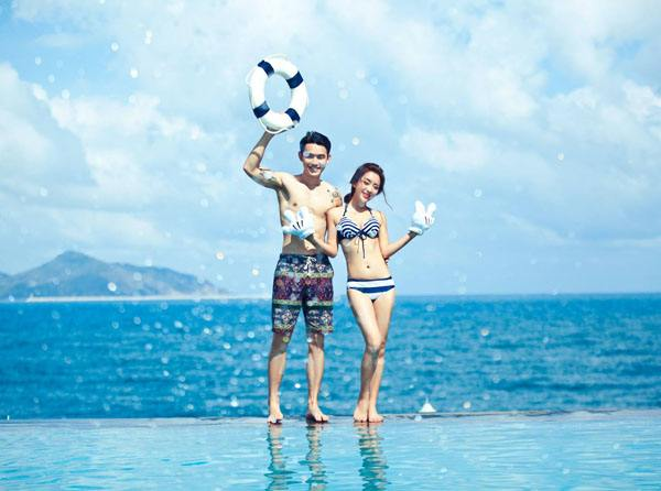 """情侣晒巴厘岛泳池边""""危险""""照片引巨大争议"""