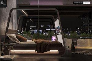 <b>世界首款自带4K投影仪的智能床,出自Hi-Interiors之手</b>