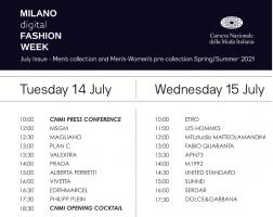 意大利时尚协会发布 2020年线上米兰时
