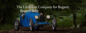 豪华汽车品牌 Bugatti(布加迪)推出最高时速60公里儿