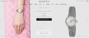 继虚拟试鞋后,Gucci 又推出 AR 手表试戴功能